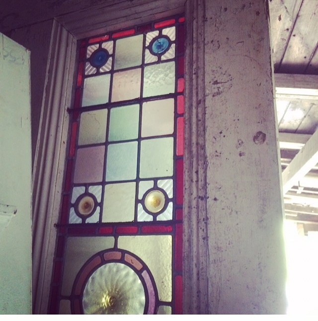 Reclaim stained glass door